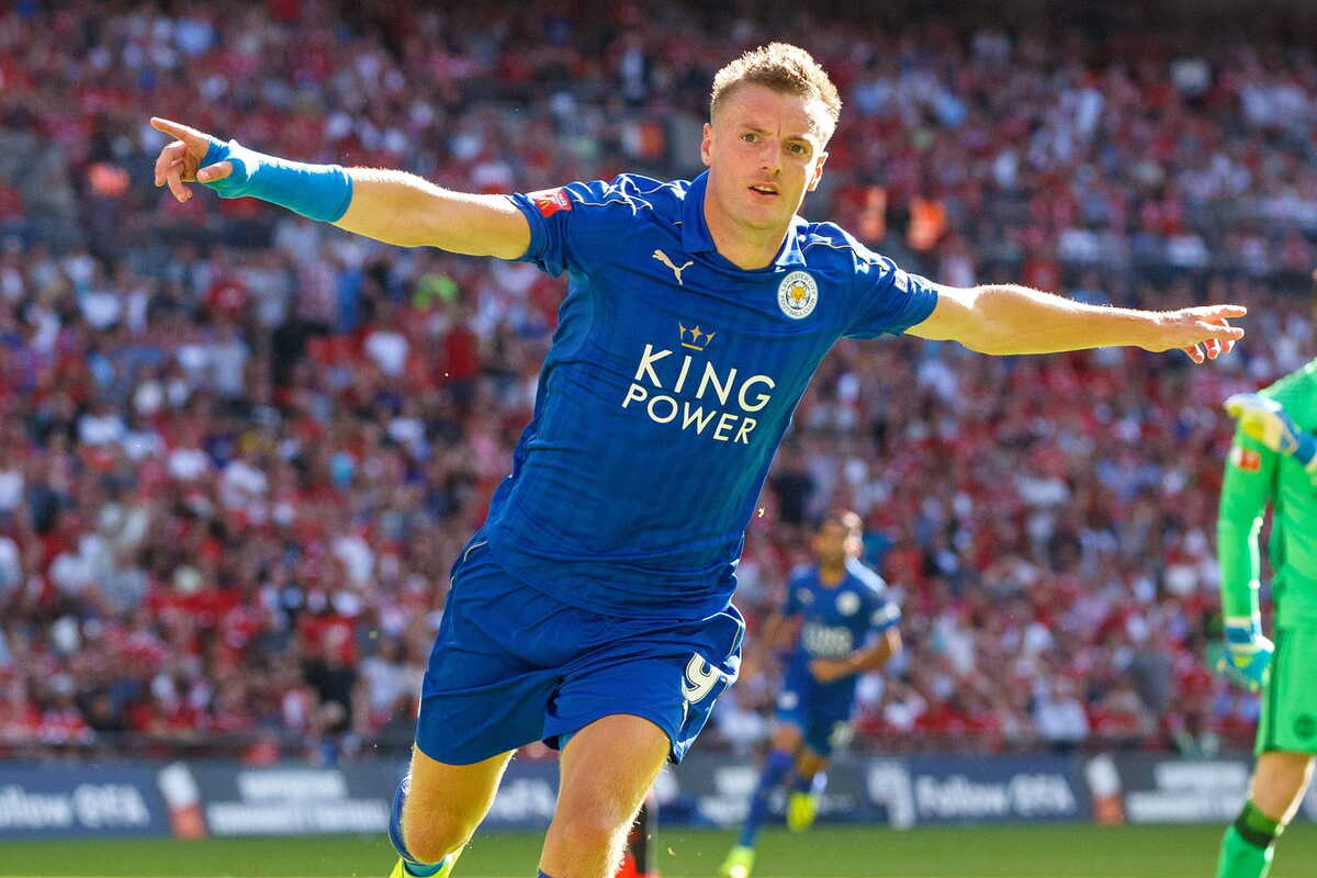 Jamie Vardy, attaccante del Leicester @imagephotoagency