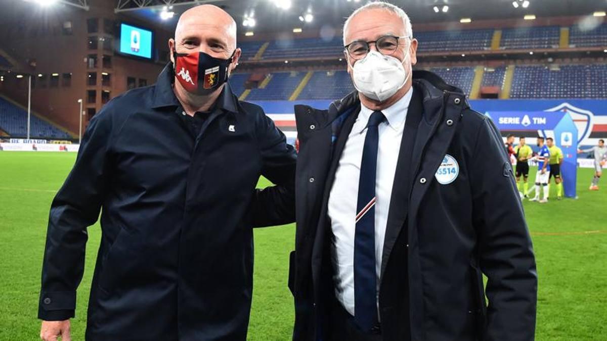 Rolando Maran e Claudio Ranieri, allenatori di Genoa e Sampdoria