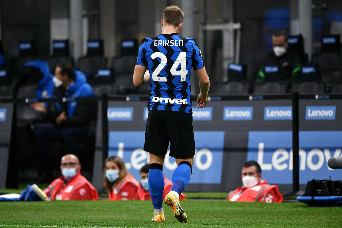 Christian Eriksen, centrocampista dell'Inter @imagephotoagency