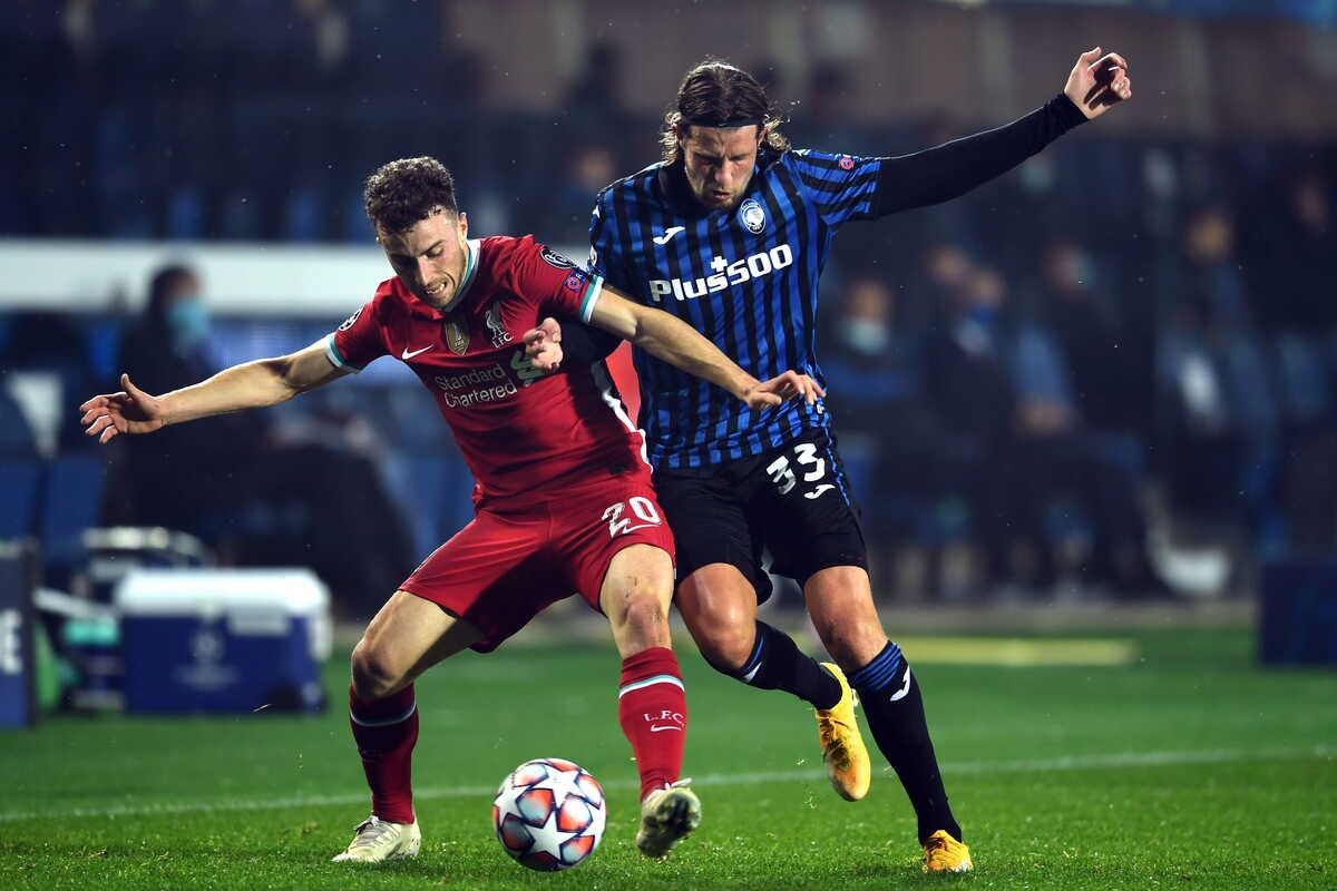 Hans Hateboer e Diogo Jota, centrocampista dell'Atalanta e attaccante del Liverpool @imagephotoagency