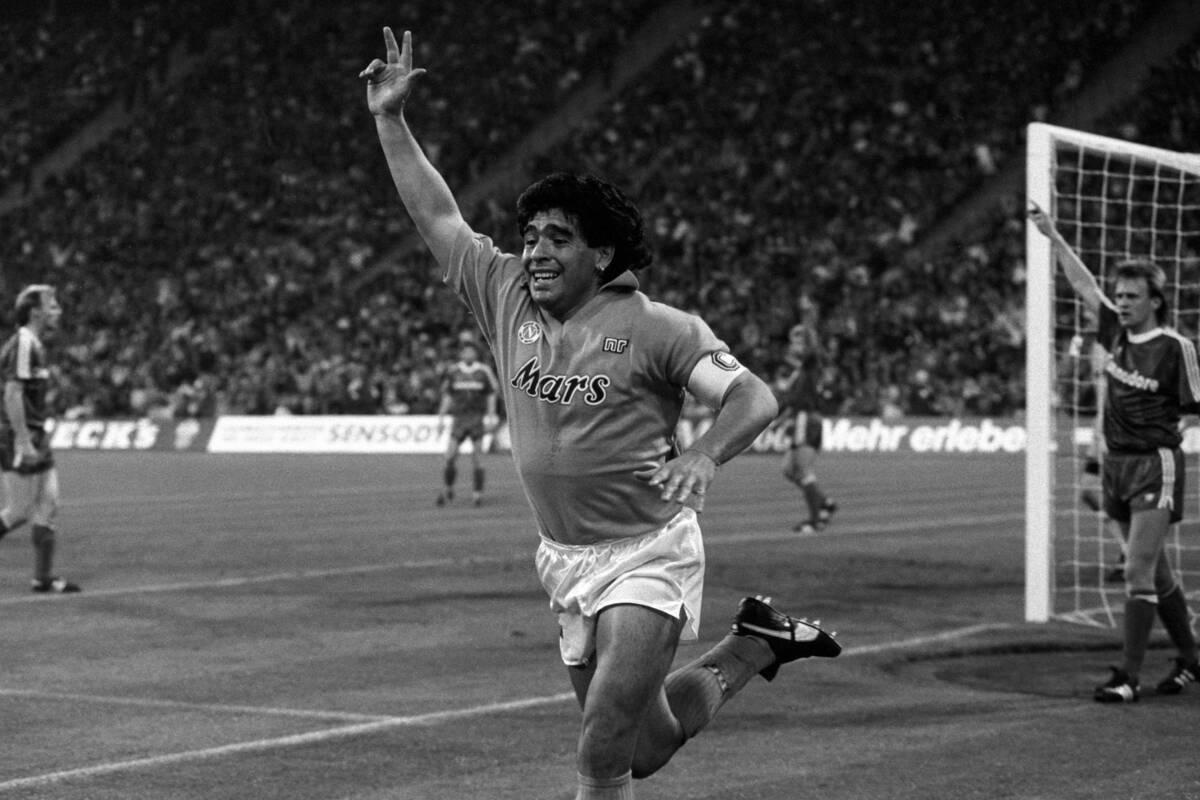 Diego Armando Maradona, ex attaccante del Napoli e della nazionale argentina