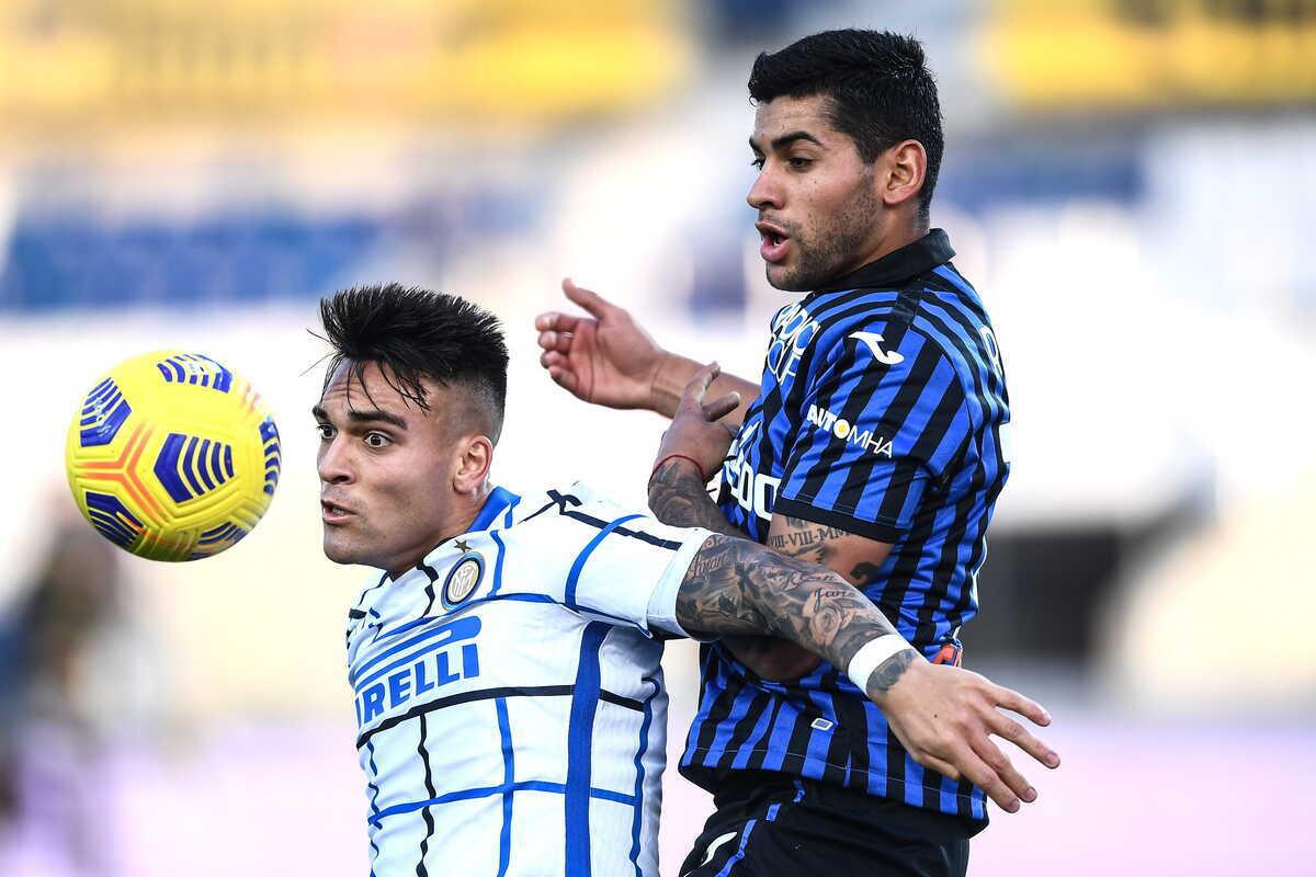 Lautaro Martinez e Cristian Romero, attaccante dell'Inter e difensore dell'Atalanta @imagephotoagency