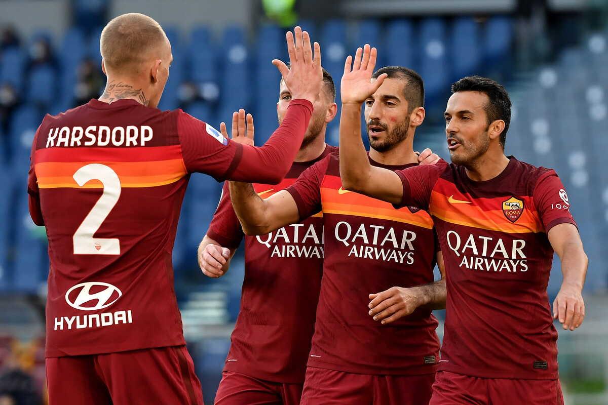 La Roma batte 3-0 il Parma grazie ai gol di Borja Mayoral e alla doppietta di Mkhitaryan @imagephotoagency