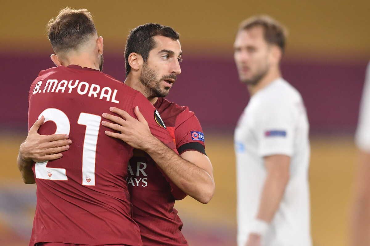 Borja Mayoral e Mkhitaryan, attaccanti della Roma @imagephotoagency