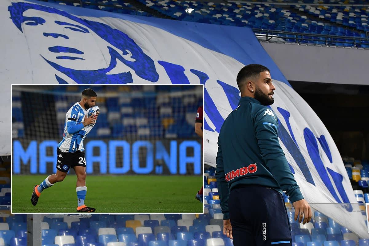 Insigne gol per Maradona