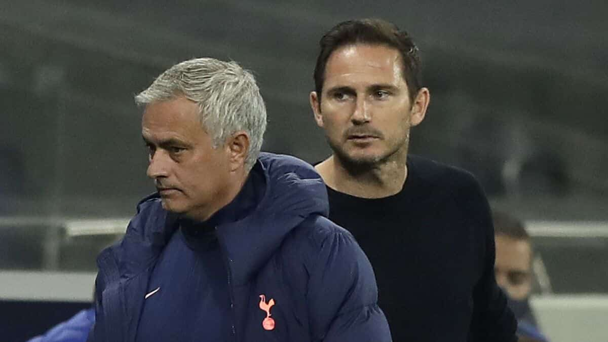 Franck Lampard e Josè Mourinho, allenatori di Chelsea e Tottenham