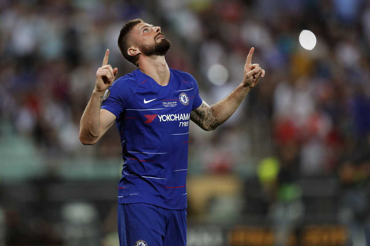 Olivier Giroud, attaccante del Chelsea @Image Sport