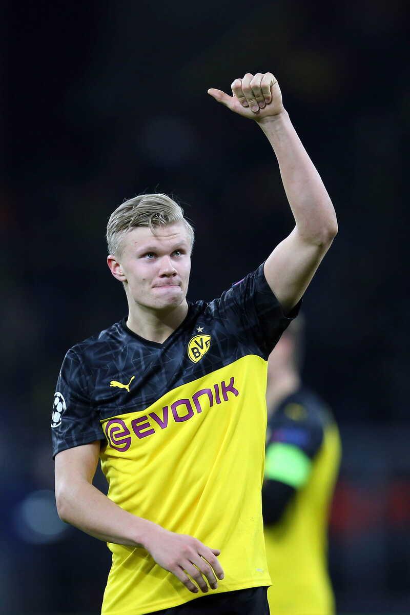Erling Haaland attaccante del Borussia Dortmund @Image Sport