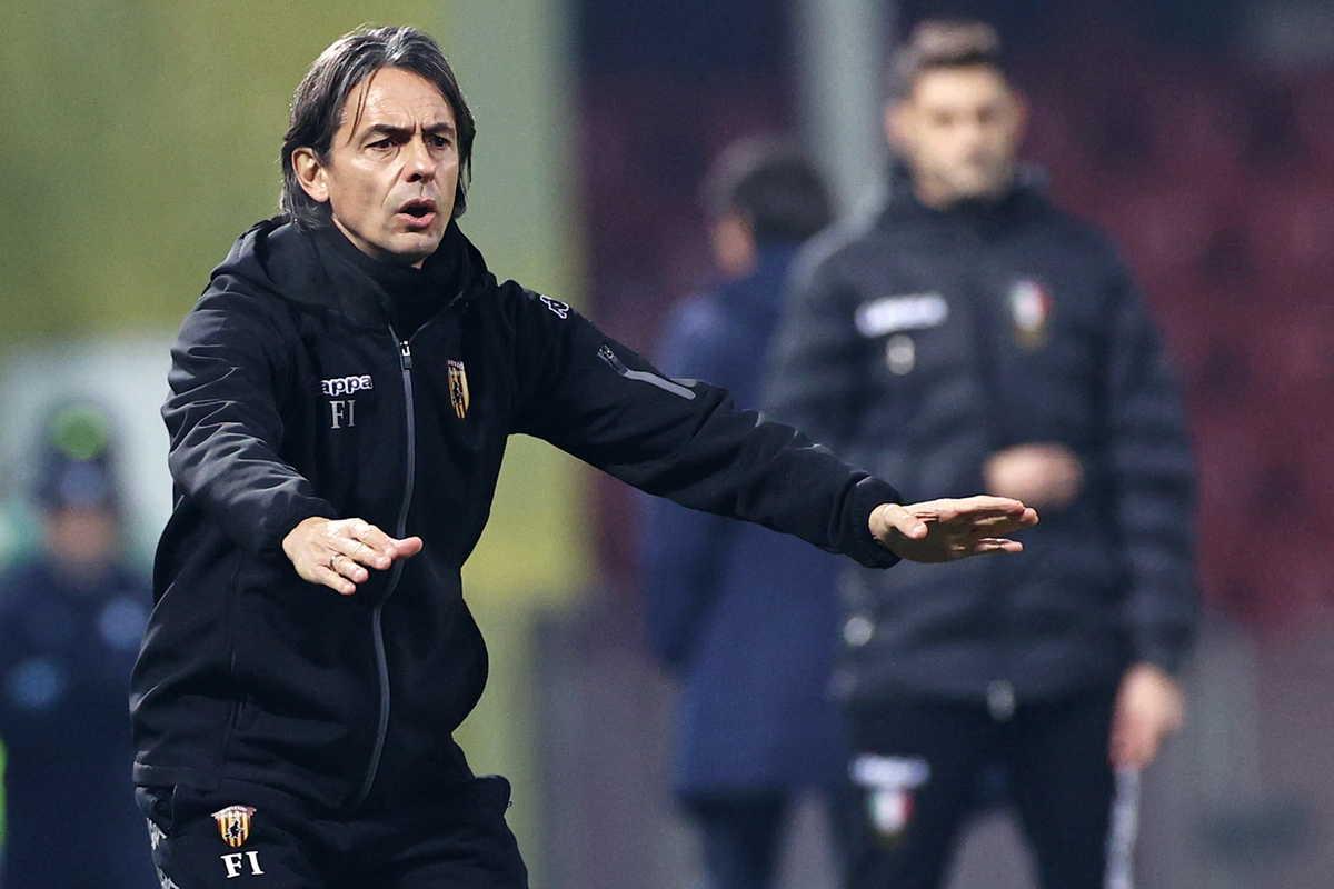 Filippo Inzaghi, tecnico del Benevento @Image Sport