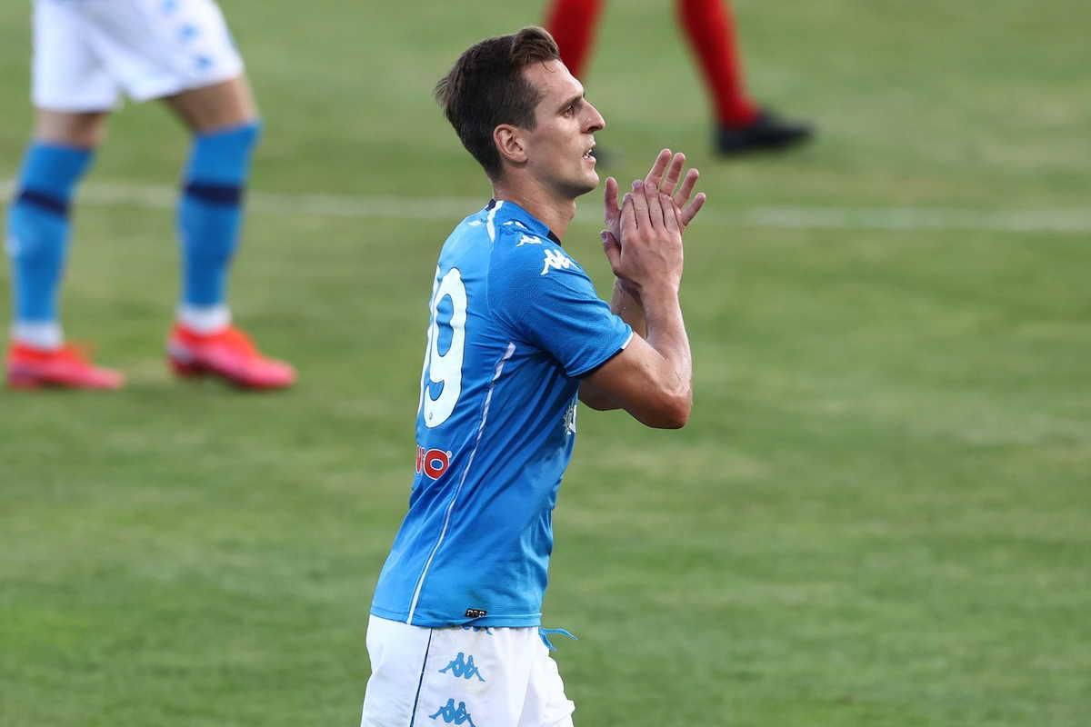 Arek Milik (Napoli) @Image Sport