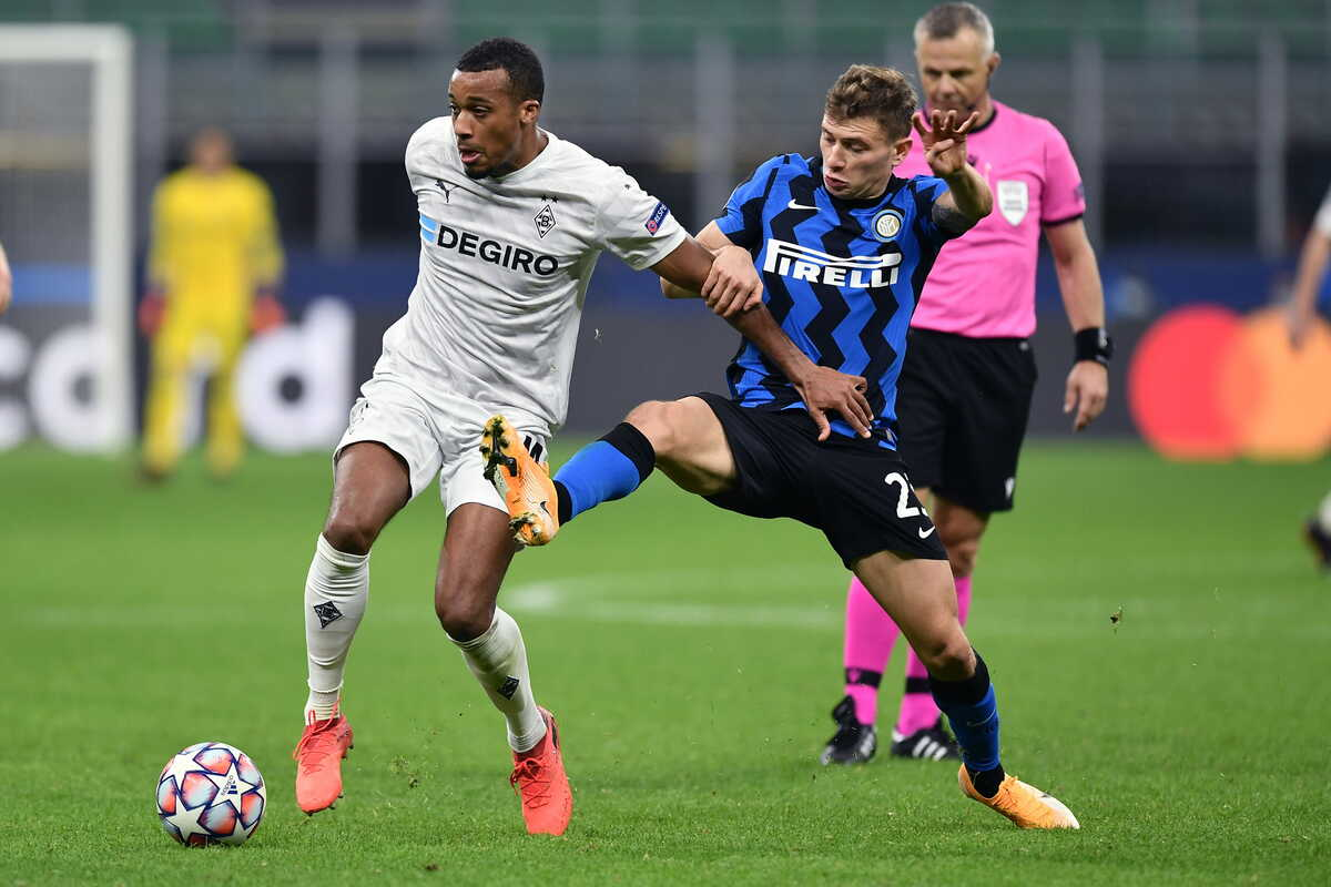 Plea, attaccante del Borussia Monchengladbach e Barella, centrocampista dell'Inter @Image Sport