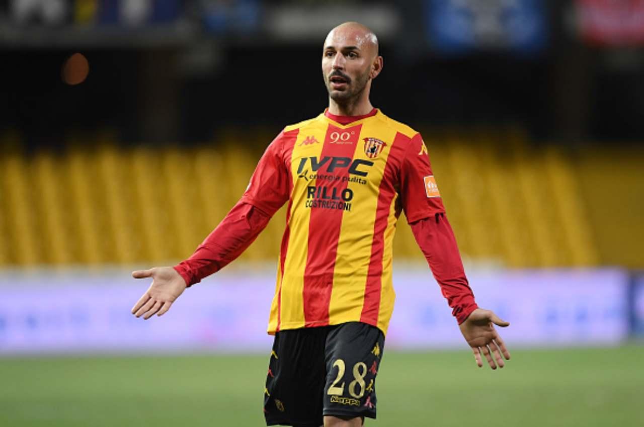 Schiattarella, giocatore del Benevento