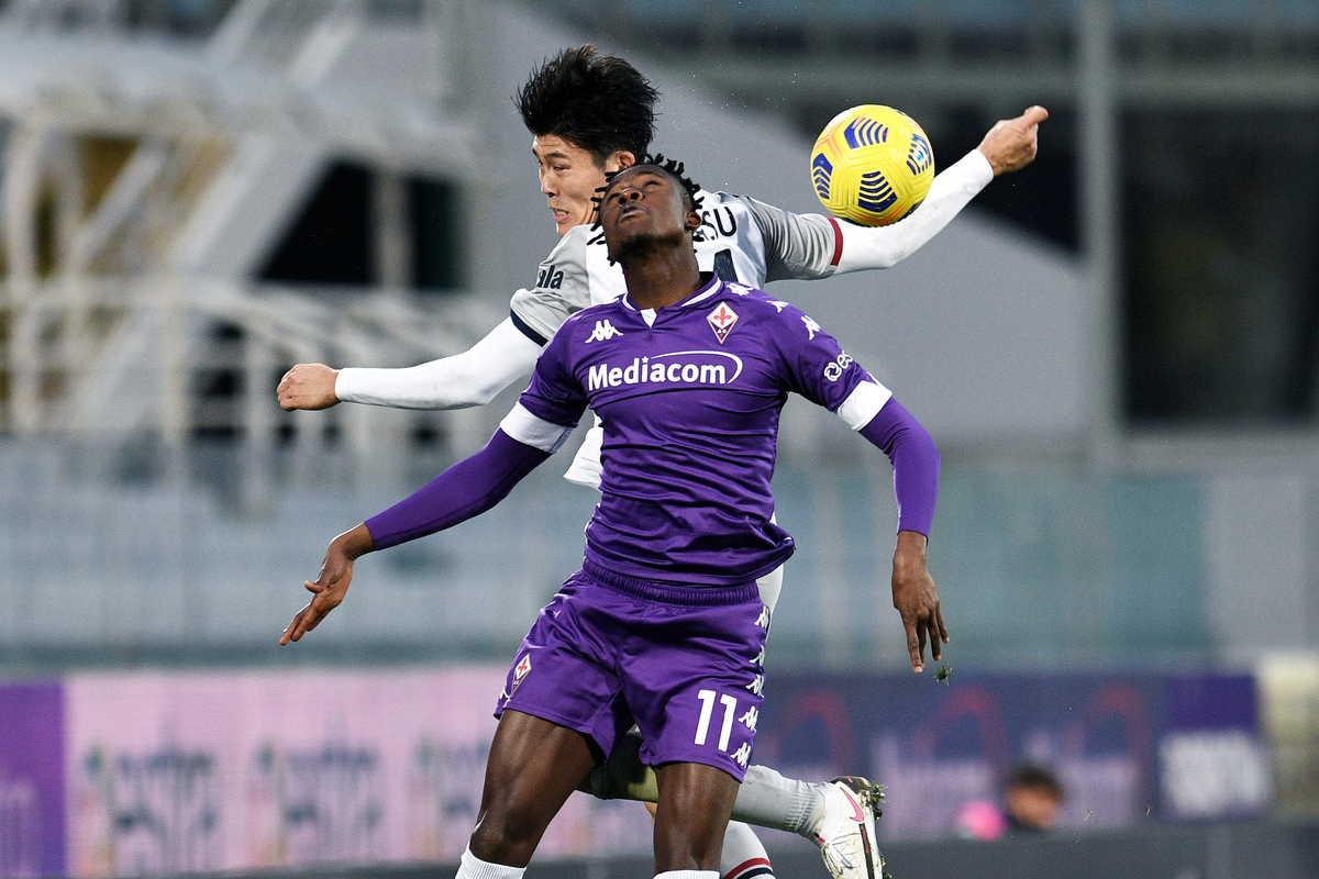 Kouamé attaccante della Fiorentina @Image Sport
