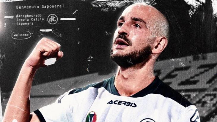 Riccardo Saponara, centrocampista dello Spezia in prestito dalla Fiorentina